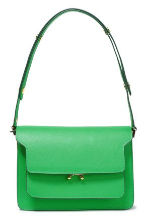MARNI Trunk small textured-leather shoulder bag