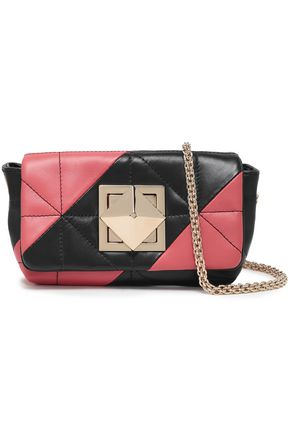 SONIA RYKIEL Quilted two-tone leather shoulder bag
