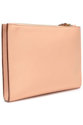 STELLA McCARTNEY Stella Logo perforated faux leather pouch