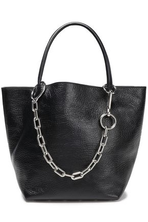 ALEXANDER WANG Chain-trimmed textured-leather tote