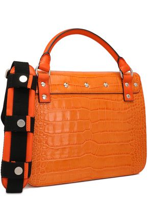 J.W.ANDERSON Lace-up croc-effect leather shoulder bag
