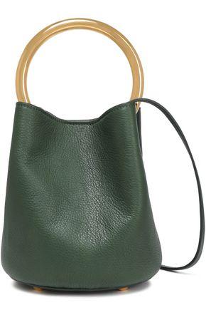 MARNI Pannier mini pebbled-leather bucket bag