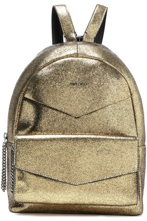 JIMMY CHOO Cassie appliquéd leather backpack