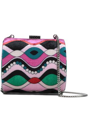 EMILIO PUCCI Printed chenille shoulder bag