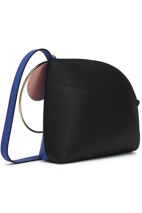 ROKSANDA Color-block textured-leather shoulder bag
