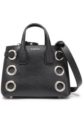 BURBERRY Embellished pebbled-leather shoulder bag
