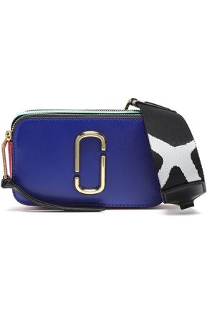 MARC JACOBS Snapshot small color-block textured-leather shoulder bag