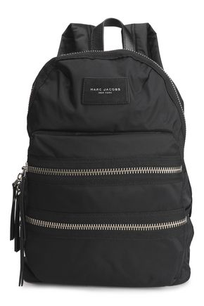 MARC JACOBS Leather-trimmed shell backpack