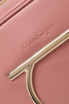 SALVATORE FERRAGAMO Embellished leather shoulder bag