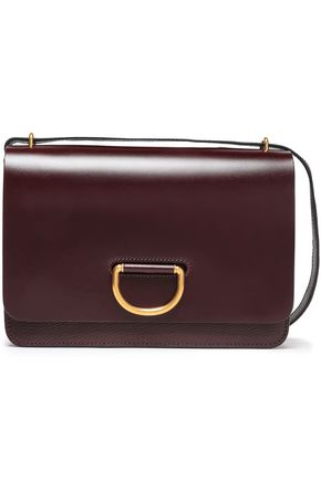 BURBERRY Paneled pebbled and smooth leather shoulder bag