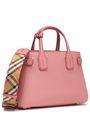 BURBERRY Pebbled-leather shoulder bag