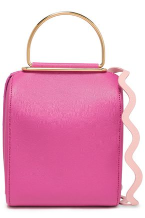 ROKSANDA Embellished pebbled-leather shoulder bag