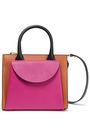 MARNI Color-block textured and smooth leather shoulder bag