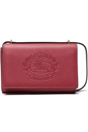BURBERRY Embossed leather clutch