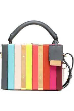 SOPHIE HULME Albany mini striped leather shoulder bag