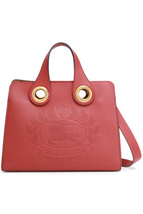 BURBERRY Embossed textured-leather tote