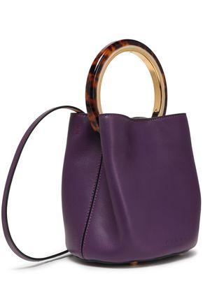 MARNI Pannier small leather bucket bag
