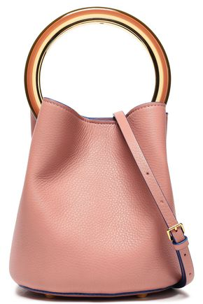 MARNI Pannier small pebbled-leather bucket bag