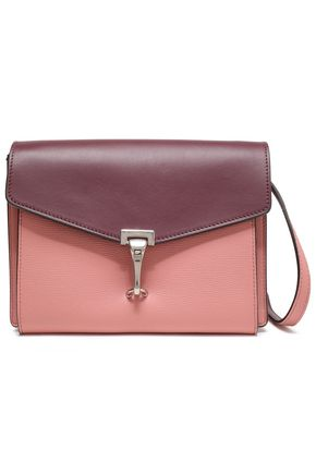 BURBERRY Two-tone textured-leather shoulder bag