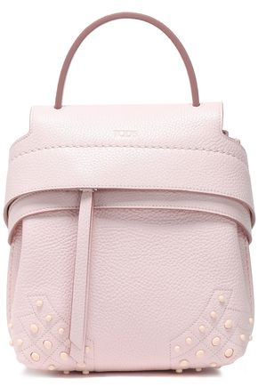 TOD'S Studded textured-leather backpack