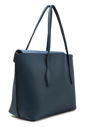 Tod's Two-tone Textured-leather Tote In Storm Blue