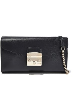 FURLA Metropolis small textured-leather shoulder bag