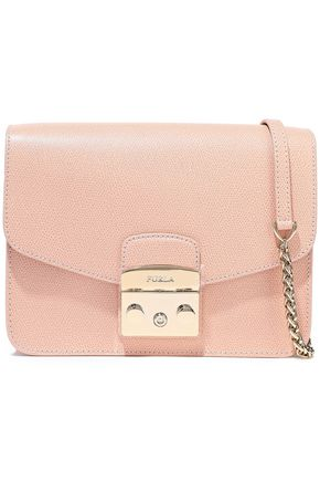 FURLA Metropolis mini textured-leather shoulder bag
