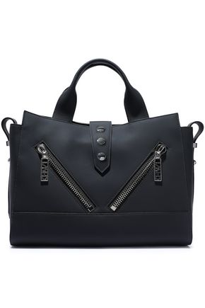 KENZO Kalifornia zip-detailed matte-leather tote