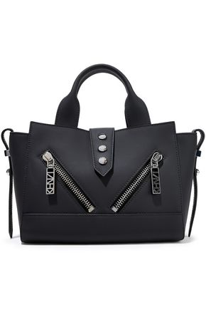 KENZO Kalifornia mini zip-detailed matte-leather tote