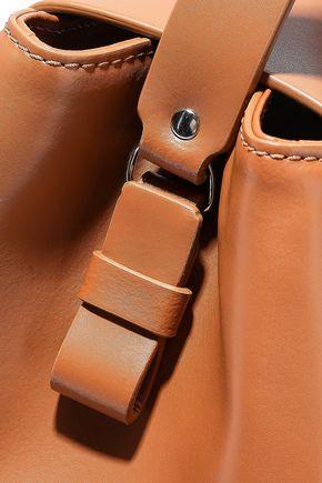 NICO GIANI Myria faux suede-paneled leather shoulder bag