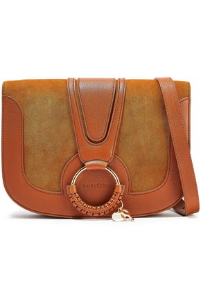 SEE BY CHLOÉ Hana small suede and leather shoulder bag