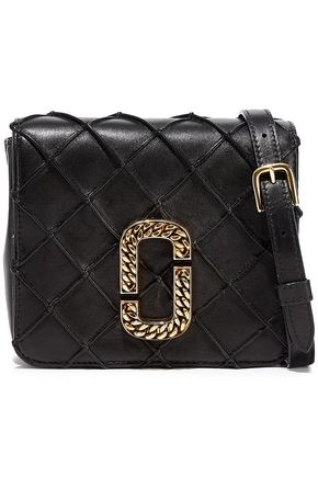 MARC JACOBS Embellished quilted leather shoulder bag