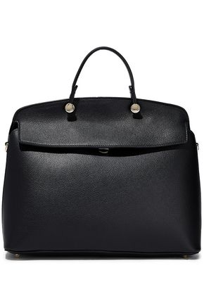 FURLA My Piper textured-leather tote