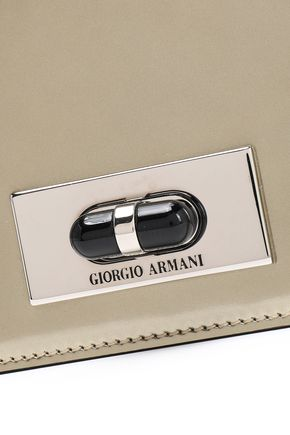 GIORGIO ARMANI ミラー加工レザー ショルダーバッグ