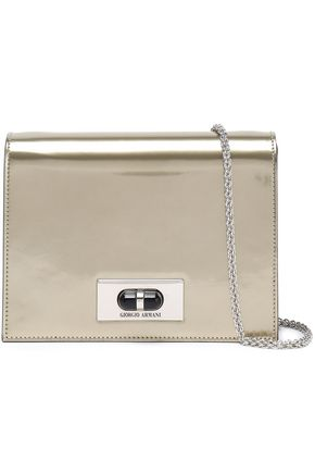 GIORGIO ARMANI Mirrored leather shoulder bag