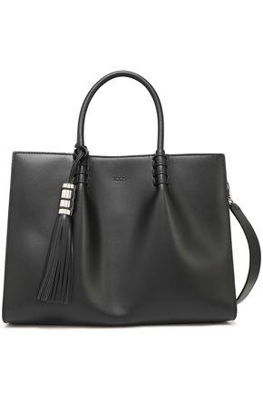 TOD'S Tasseled leather shoulder bag