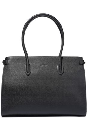FURLA Pin textured-leather tote