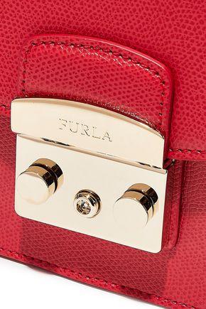 FURLA Metropolis mini textured-leather shoulder bag