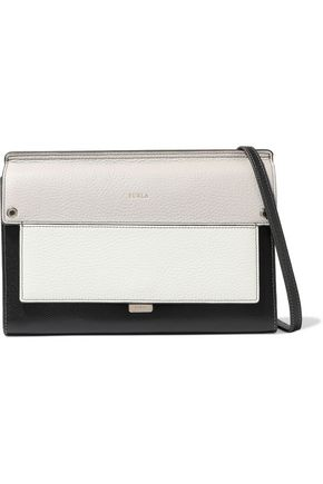 FURLA Like mini color-block textured-leather shoulder bag