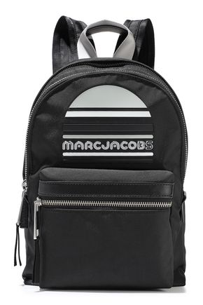 MARC JACOBS Trek embellished leather-trimmed shell backpack