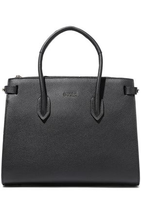 FURLA Pin small pebbled-leather tote