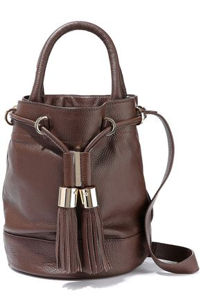 SEE BY CHLOÉ Textured-leather bucket bag
