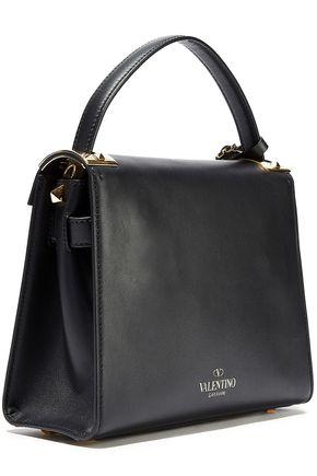 Valentino Garavani VALENTINO GARAVANI WOMAN MY ROCKSTUD LEATHER SHOULDER BAG BLACK