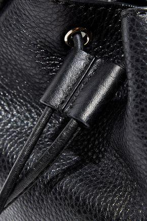 VALENTINO GARAVANI Rockstud pebbled-leather bucket bag
