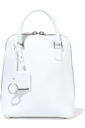 JIL SANDER Pebbled-leather shoulder bag