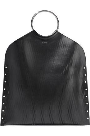 JIL SANDER Net studded sliced leather tote