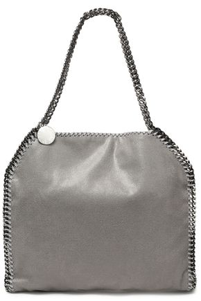 STELLA McCARTNEY Chain-trimmed faux brushed-leather tote