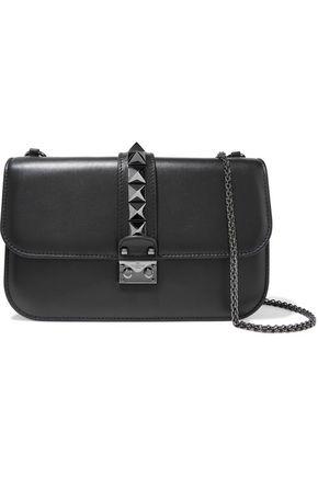 VALENTINO GARAVANI Lock studded leather shoulder bag