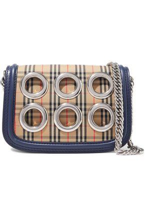 BURBERRY 1983 eyelet-embellished checked jacquard shoulder bag