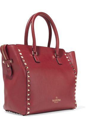 VALENTINO GARAVANI Rockstud leather tote